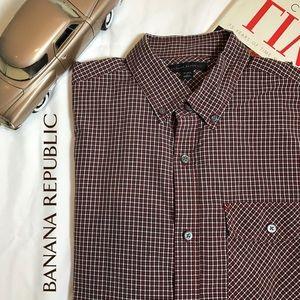BANANA REPUBLIC Long Sleeve Men's Button Down L